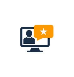 computer testimonial logo icon design vector image