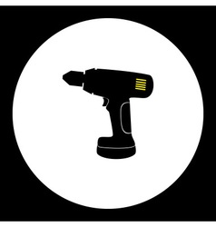 Cordless electric screwdriver workshop tool vector