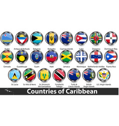 Countries caribbean vector