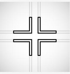 Cross christian symbol sign lines vector