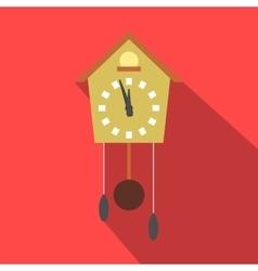 Cuckoo clock flat icon vector