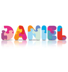 DANIEL written with alphabet puzzle vector