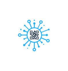 digital barcode logo icon design vector image