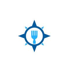 Direction food logo icon design vector