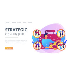 employee sharing concept landing page vector image