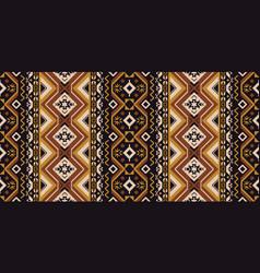 Ethnic geometric seamless pattern tribal rug vector
