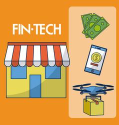 Financial technolgoy concept vector