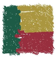 Flag of Benin handmade square shape vector image vector image