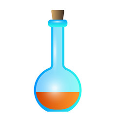 Flask potion icon cartoon style vector