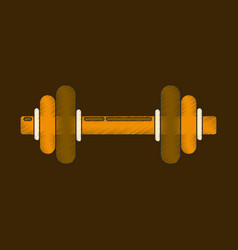 Flat shading style icon dumbbell vector