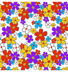 Floral Cartoon Seamless vector image