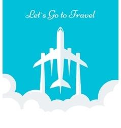 Flyer travel vector