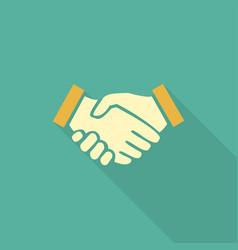 handshake business concept handshake icon vector image