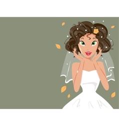 happy bride vector image vector image