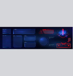 hud ui gui futuristic user interface screen fram vector image