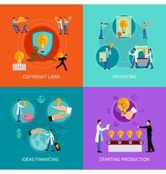 Intellectual property design concept set vector