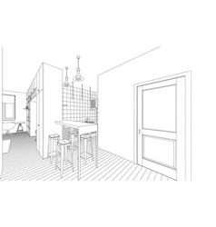 Interior drawing vector