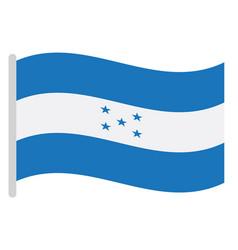 Isolated flag of honduras vector