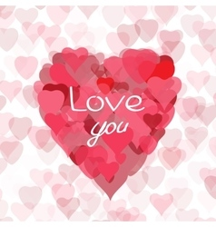 Love you hand drawn vector