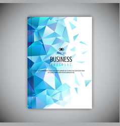 Low poly business brochure design vector