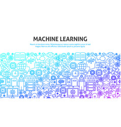 machine learning concept vector image