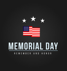 Memorial day logo template design vector