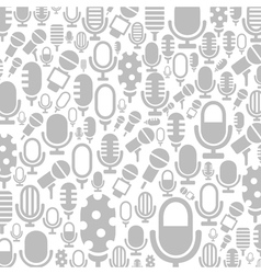 Microphone a background vector