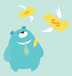 money fly vector image