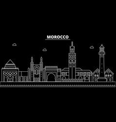 Morocco silhouette skyline city moroccan vector