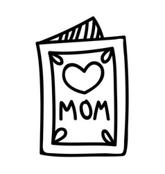 mothers day card hand drawn icon design sign vector image