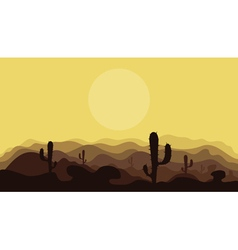 Mountains in the desert2 vector