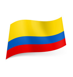 national flag of colombia wide red narrow blue vector image