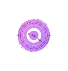 neon clock line icon vector image
