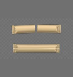 new used sugar sachets sticks mockup vector image