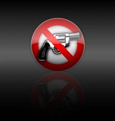 No gun vector