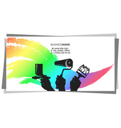 Painting with tool business card concept vector