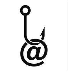 Phishing email icon simple style vector