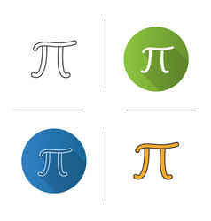 Pi icon vector