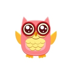 Pink owl wants a hug vector