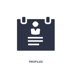 Profiles icon on white background simple element vector