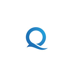 q letter logo template vector image