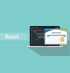 react native programming online learning vector image