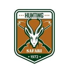 Safari hunting sport club badge vector image