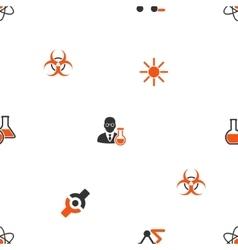 Science Seamless Flat Wallpaper vector image