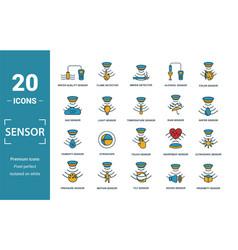Sensor icon set include creative elements water vector