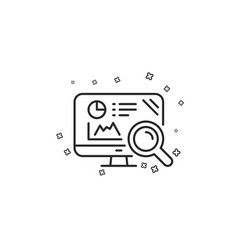 Seo statistics line icon search engine sign vector