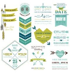 set wedding cards vector image