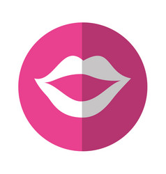 Sexy female lips icon vector