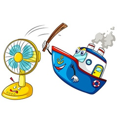 Ship hitting a fan vector