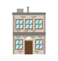 Single brick building icon vector